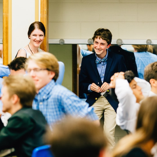 High School social entrepreneur in a classroom