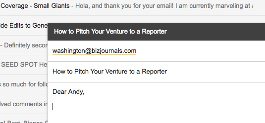 how to pitch your venture to a reporter, pitch, entrepreneur, entrepreneurship