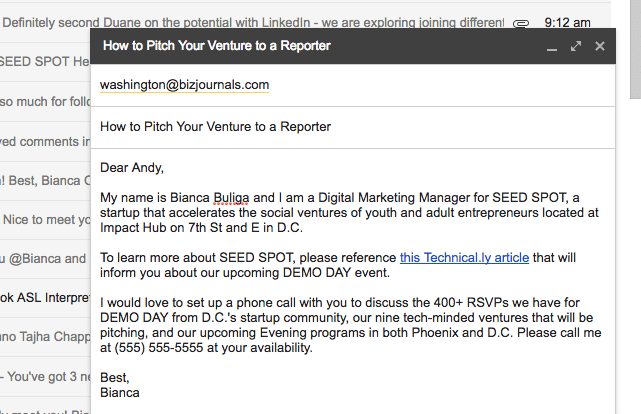 how to write a pitch pr