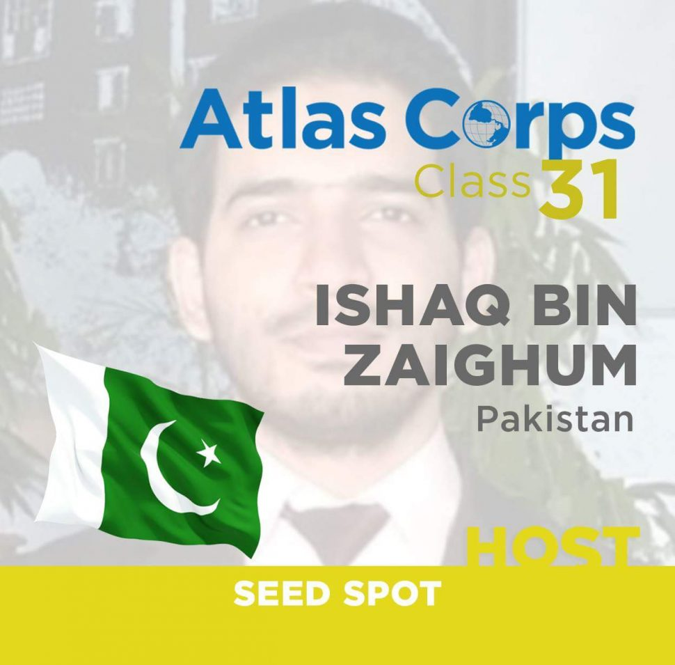 Ishaq Zaighum, Atlas Fellow, Measuring and Evaluation Fellow