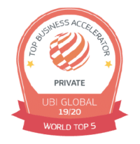 UBI World Top 5 Private Business Accelerator Icon